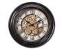 Black and Gold Gear Wall Clock 14in silo front
