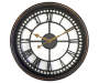 Black and Gold Open Back Wall Clock Silo