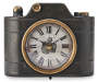 Black and Gold Vintage Style Camera Clock Silo