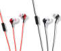 Black and Red Talkbuds Stereo Earbuds 2-Pack Out Of Package Silo