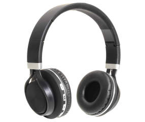 sentry black silver bluetooth deluxe headphones big lots. Black Bedroom Furniture Sets. Home Design Ideas