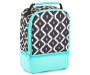 Black and White Aztec Dual Compartment Lunch Kit Silo Image