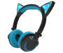 Black and blue Cat Headphones Side View