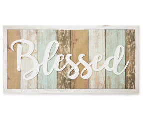 Quot Blessed Quot 3d Canvas Wall Art Big Lots