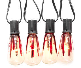 Edison Bulb String Lights Big Lots : Bloody Edison Light Bulb Set, 10-Count Big Lots