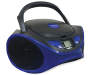Blue Bluetooth CD Boombox Handle Up Silo Image