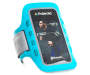 Blue Bluetooth Headphones and Armband Fitness Kit Armband Silo