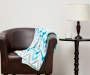 Blue Chevron Plush Throw on Chair Lifestyle Image