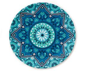 Blue Floral Medallion Melamine Dinner Plate Big Lots