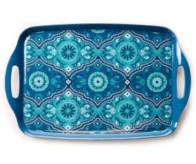 Blue Floral Medallion Melamine Serving Tray Big Lots