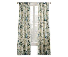 Living Colors Blue Floral Curtain Panel 84 Quot Big Lots