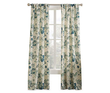 Black Curtains With Blue Flowers - Best Curtains 2017
