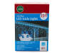 Blue LED Icicle Lights 350 Count in Package Silo Image