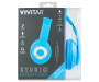 Blue Neon Studio Headphones in Package Silo Image