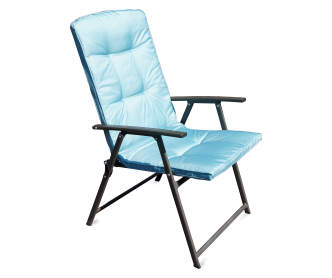 Wilson Fisher Blue Sling Folding Patio Lounger Big Lots