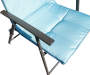 Blue Oversized with Padding Fold Chair Texture Shot