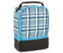 Blue Plaid Dual Compartment Lunch Kit Silo Image