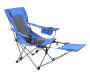 Blue Quad Chair with Footrest