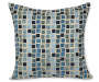 Blue Square Throw Pillow Silo