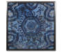 Blue Star Medallion Canvas Frame 18 Inches Overhead View Silo Image