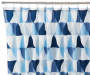 Blue Triangle Fabric Shower Curtain 72 inches on Rod