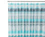 Blue and Gray Stripe Fabric Shower Curtain 72 inches Close Image on Rod