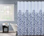Blue and White Garden Shower Curtain 72 Inch On Tub Lifestyle Image