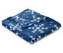 Blue and White Snowflake Throw Silo