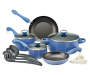 Blueberry 17 Piece Non Stick Cookware Set Silo Image