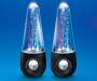 Bluetooth Dual Dancing Water Speakers on Blue Background