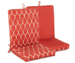 Bolton Red Geometric Amp Solid Reversible Outdoor Chair