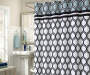 Bradley Tile Shower Curtain Set 13 Piece on Curtain Rod Room View