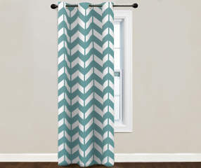 Sundown Branson Turquoise Thermal Curtain Panel 84 Big Lots