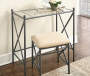 Brenda Metal Mirror Vanity Set with Stool lifestyle