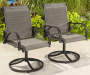 Brentwood Sling Swivel Rocker Chairs, 2-Pack