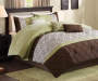 Briggs Celery and Chocolate 7-Piece King Comforter Set Room Setting