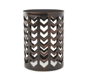 Wilson Amp Fisher Bronze Chevron Metal Garden Table 13 Quot X