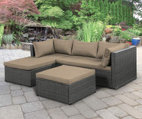 Wilson Amp Fisher Brook Gray All Weather Wicker Sectional