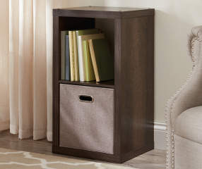 Stratford 2 Cube Brown Storage Cubby Big Lots