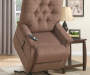 Brown Button Tufted Lift Chair lifestyle