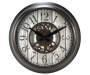 Brown Gear Wall Clock Silo