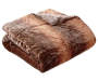 Brown Mink and Chocolate Faux Fur Reversible Full Queen Comforter Silo Image