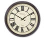 Brown Roman Wall Clock Silo