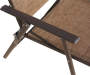 Brown Sling Folding Patio Chair Texture Shot