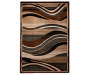 Brown Tidal Wave Area Rug 6 feet 7 inch x 9 feet silo front