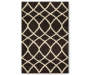 Brown and Cream Contemporary Shag Accent Rug Silo