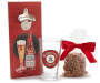 Budweiser Wall Mounted Bottle Opener with Glass Pint and Pretzels Gift Set silo out of package