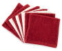 Burgundy/ Ivory Wash Cloth, 9-Pack Stack Shot