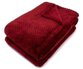 Aprima Burgundy Jacquard Queen Plush Velvet Blanket | Big Lots