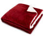 Burgundy Sherpa Throw Folded with Corner Folded Down Silo Image